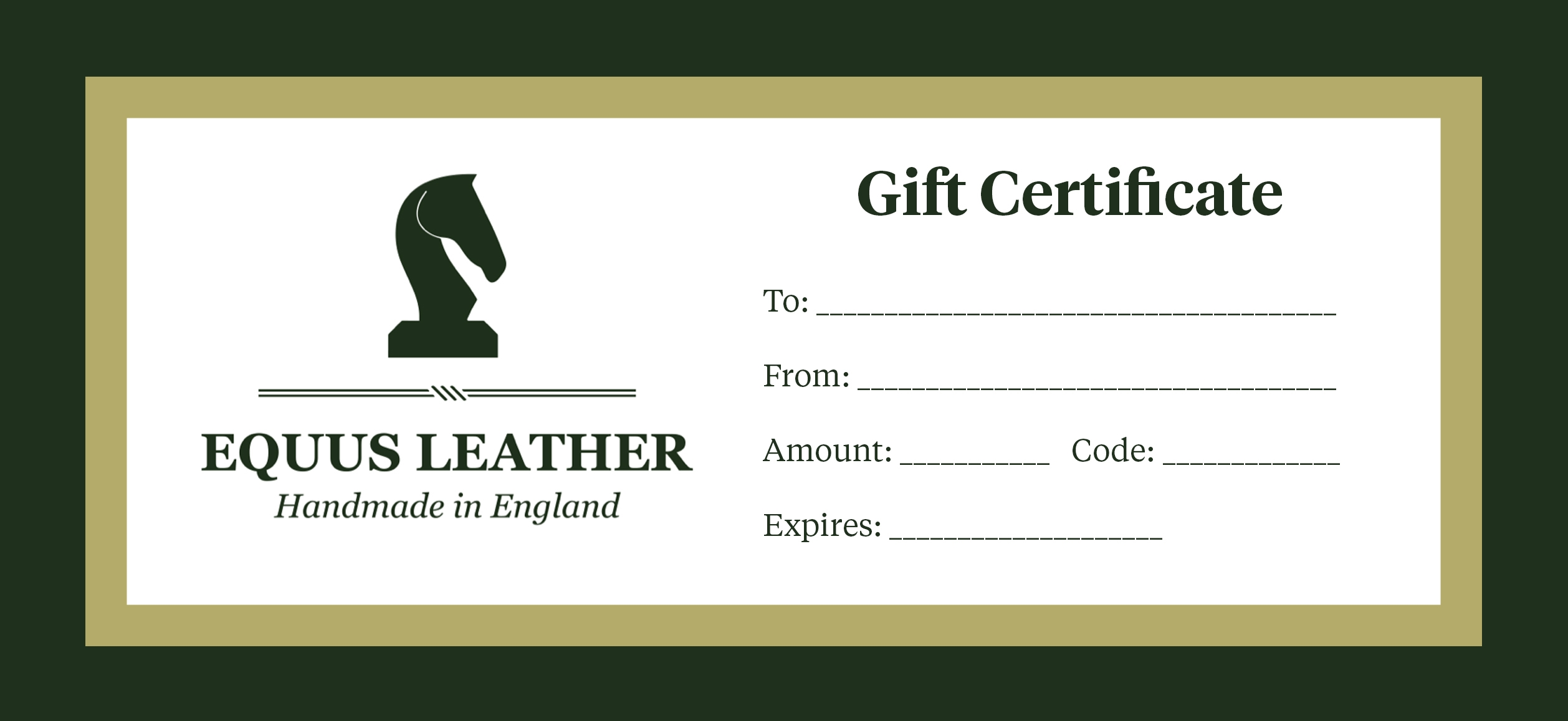 Printed Gift Vouchers