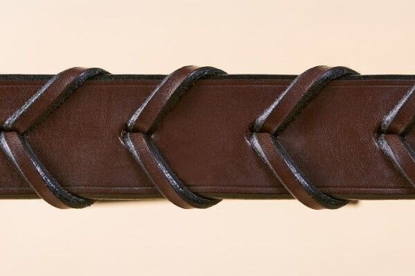 "1 1/4"" Laced Handmade Leather Belt in Australian Nut"