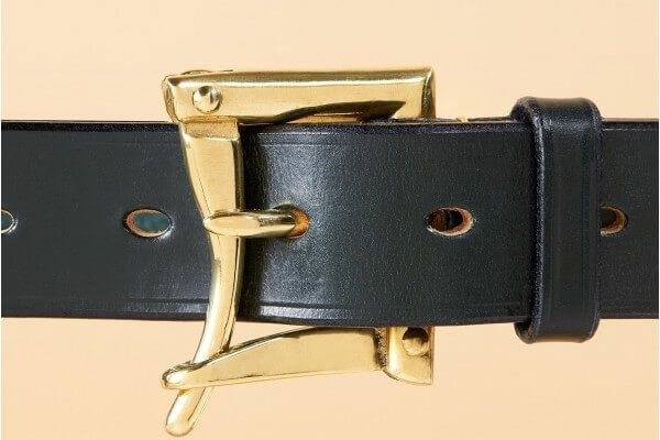 "1 1/4"" Winchester Bridle Leather Belt in Equus Green"