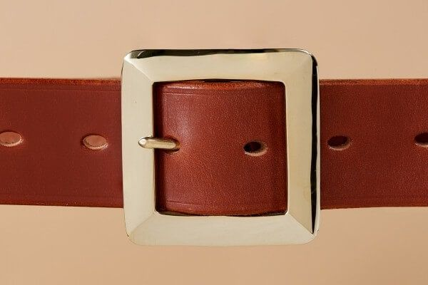 "1 1/2"" Berkley Handmade Leather Belt in Hazel"