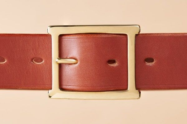 Hazel Pinewood Handmade Leather Belt in 1 1/2""