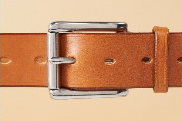 "West End Roller Bridle Leather Belt in 1 1/2"" Light Havanna"